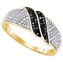 925 Sterling Silver Yellow 0.15CT DIAMOND MICRO-PAVE RI