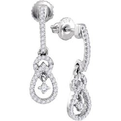 10KT White Gold 0.20CTW DIAMOND FASHION EARRING
