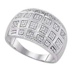 925 Sterling Silver White 0.20CTW DIAMOND MICRO-PAVE ME