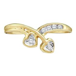 10KT Yellow Gold 0.10CTW-DIAMOND FASHION RING