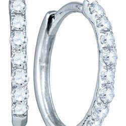 10KT White Gold 0.35CTW DIAMOND FASHION EARRINGS