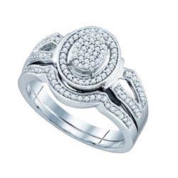 925 Sterling Silver White 0.33CT DIAMOND FASHION BRIDAL