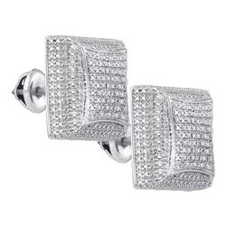 925 Sterling Silver White 0.14CT-DIAMOND MICRO-PAVE EAR