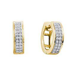 10KT Yellow Gold 0.15CTW DIAMOND FASHION HOOPS
