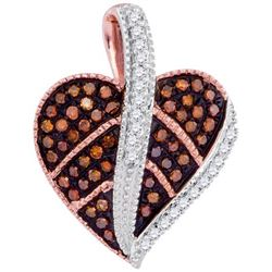 10KT Rose Gold 0.20CTW-Diamond HEART PENDANT