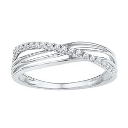 10KT White Gold 0.08CTW-Diamond FASHION RING