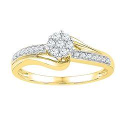 10K Yellow-gold 0.20CTW-Diamond FASHION RING