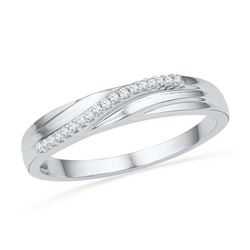 10KT White Gold 0.06CTW DIAMOND FAHSION BAND