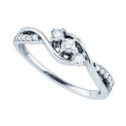 10KT White Gold 0.22CT DIAMOND FASHION RING