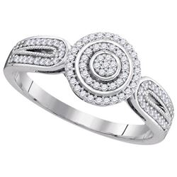 10KT White Gold 0.20CTW DIAMOND MICRO-PAVE BRIDAL RING