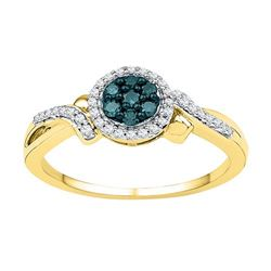 10K Yellow-gold 0.25CTW-Diamond FASHION RING