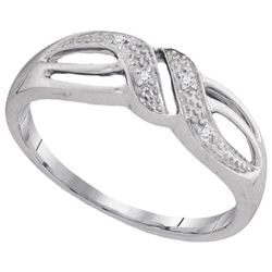 10KT White Gold 0.02CTW DIAMOND FASHION BAND