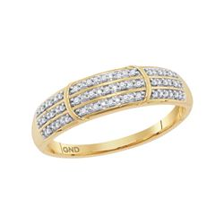 10kt Yellow Gold Womens Round Natural Diamond Simple St