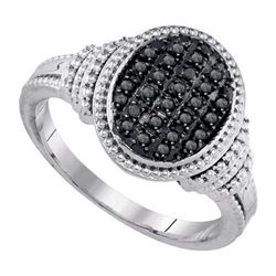 925 Sterling Silver White 0.25CTW DIAMOND FASHION RING