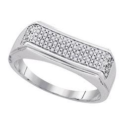 925 Sterling Silver White 0.16CTW DIAMOND MICRO-PAVE ME