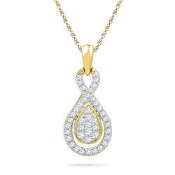 10K Yellow-gold 0.33CTW DIAMOND FASHION PENDANT