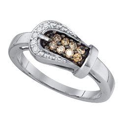 10KT White Gold 0.24CT DIAMOND FASHION RING