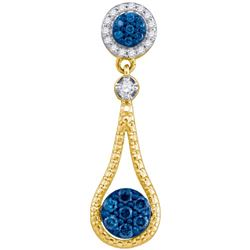 10K Yellow-gold 0.36CTW DIAMOND FASHION PENDANT