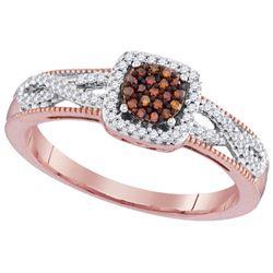 10KT Rose Gold 0.20CTW DIAMOND MICRO-PAVE BRIDAL RING