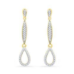10KT White Gold 0.20CTW DIAMOND FASHION EARRING