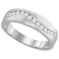10KT White Gold 0.25CTW DIAMOND FASHION BAND