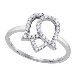 10KT White Gold 0.22CTW DIAMOND FASHION RING