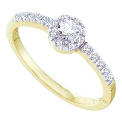 10KT Yellow Gold 0.25CTW DIAMOND LADIES BRIDAL RING