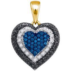 10K Yellow-gold 0.27CTW DIAMOND HEART PENDANT
