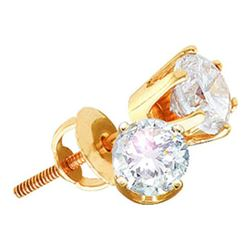 14KT Yellow Gold 0.25 CTW ROUND DIAMOND EARRING (EXCELL