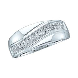 14KT White Gold 0.15CTW ROUND DIAMOND LADIES MICRO PAVE
