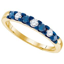10K Yellow-gold 0.46CTW DIAMOND FASHION RING