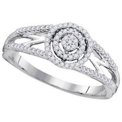 10KT White Gold 0.20CTW DIAMOND MICRO-PAVE BRIDAL RING