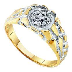 925 Sterling Silver Yellow 0.04CTW DIAMOND FASHION MENS