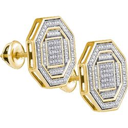 925 Sterling Silver Yellow 0.17CTW DIAMOND MICRO-PAVE E