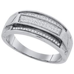 925 Sterling Silver White 0.19CT DIAMOND MICRO-PAVE MEN