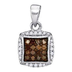 10K 925-Sterling 0.25CTW DIAMOND MICRO-PAVE PENDANT
