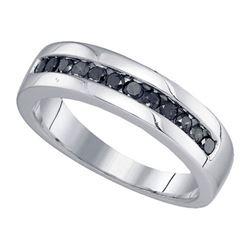 925 Sterling Silver White 0.50CT DIAMOND FASHION BAND