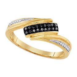 925 Sterling Silver Yellow 0.12CTW DIAMOND FASHION RING