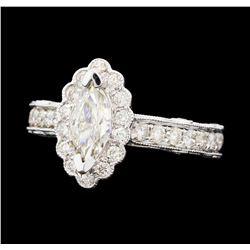 1.80 ctw Diamond Ring - 14KT White Gold