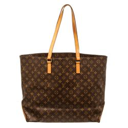 Louis Vuitton Monogram Canvas Leather Cabas Alto Shoulder Bag