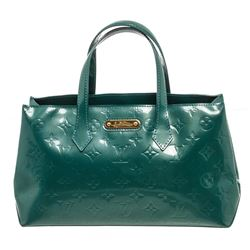 Louis Vuitton Sea Green Monogram Vernis Leather Wilshire PM Bag