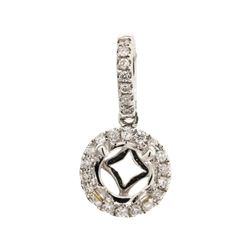 0.20 ctw Diamond Semi-Mount Pendant - 18KT White Gold