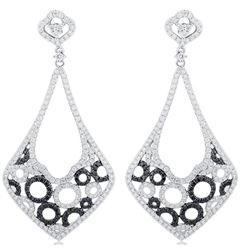 18k White Gold 3.52CTW Diamond Earrings, (VS2 /G-H)