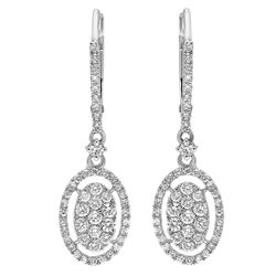 14k Gold 0.75CTW Diamond Earrings, (SI2-SI3/H-I)