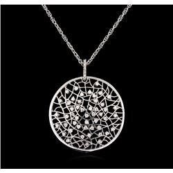 0.94 ctw Diamond Pendant With Chain - 14KT White Gold