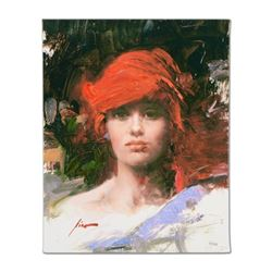 Red Turban by Pino (1939-2010)