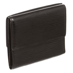 Louis Vuitton Black Epi Leather Elise Wallet