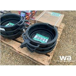 (3) GREENWAY 16L OIL DRAIN PAN
