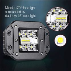"(10) FLUSH MOUNT 5"" LED WORK PODS"