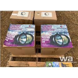 (2) EPISTAR LED 400W HIGH BAY LIGHTS